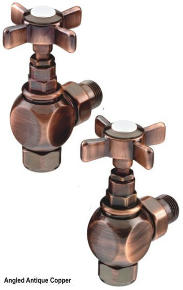 The Radiator Company Crosshead  Antique Copper Manual Valves