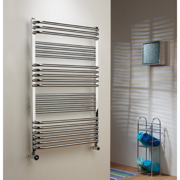 The Radiator Company Poll Chrome Electric Towel Rail