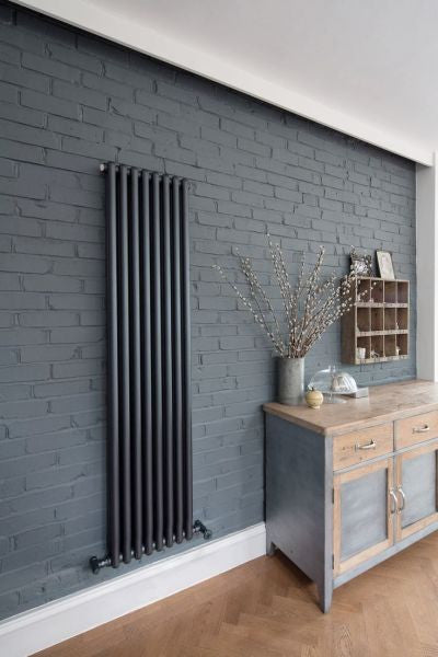 vintage retro vertical designer radiator hot interiors ltd. Black Bedroom Furniture Sets. Home Design Ideas