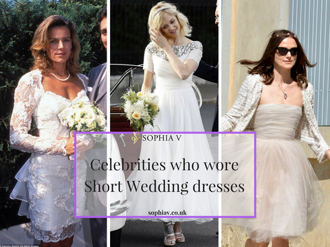 celebrities who wore shortt wedding dresses