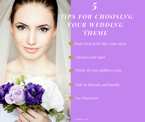 5 Tips for choosing your wedding theme
