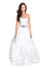 Two piece wedding dress/ Wedding dress with detachable skirt,front view