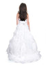 Two piece wedding dress/ Wedding dress with detachable skirt, back view