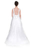 High Low Wedding Dress Beaded Aline Three Quartrer Length Backless Wedding Dress,Back view