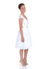 Short Wedding dress Knee length Wedding Dress with cap sleeves.side view