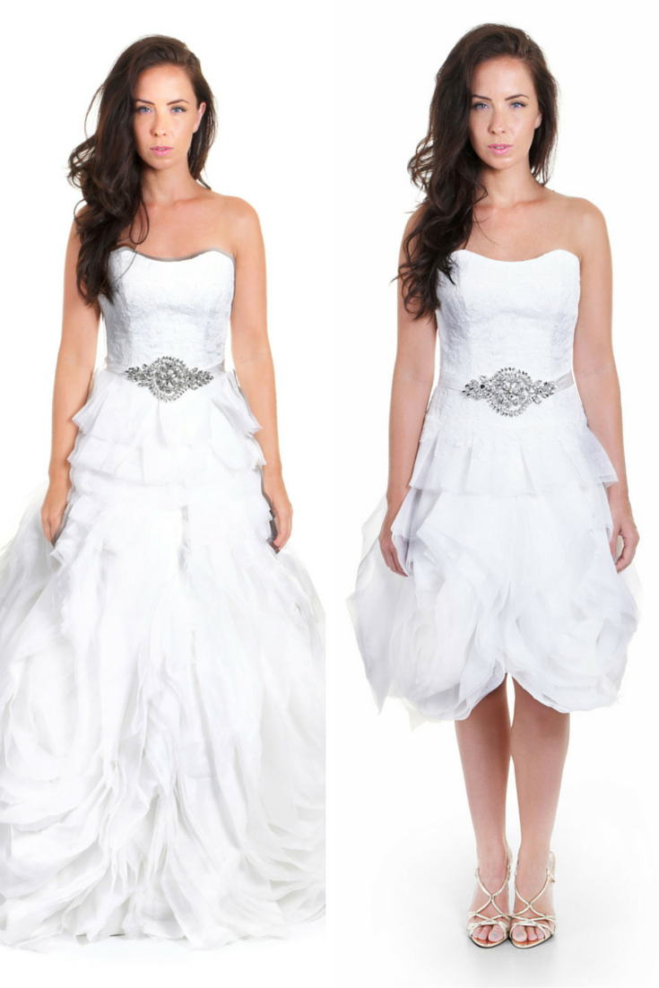 Two in one convertible wedding dress sophia v for Wedding dresses 2 in 1