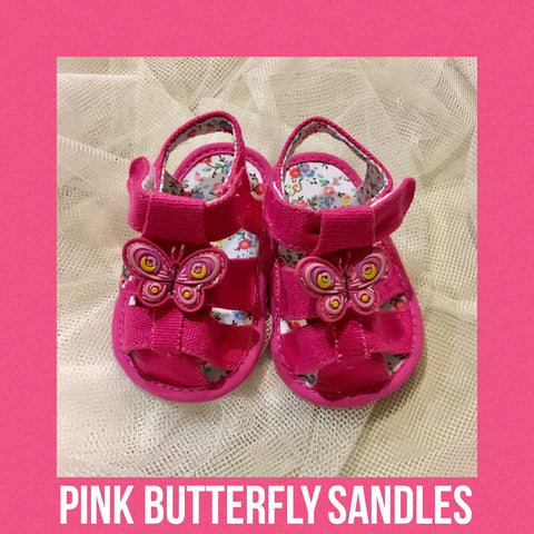 Shoes - Sandles (Pink Butterfly)