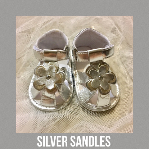 Shoes - Metallic Sandals (Silver)