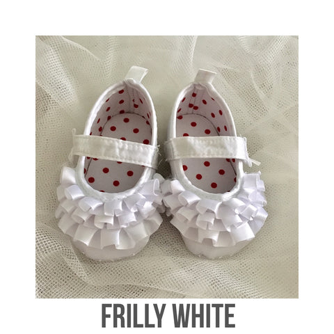 Shoes - Frilly White