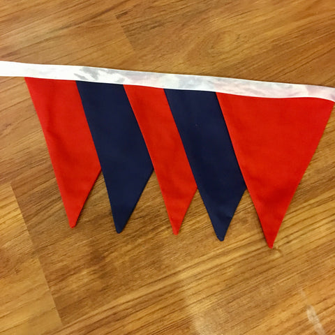 Bunting - Solid Red & Navy Blue