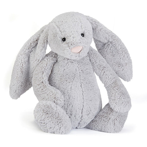 Soft Toy - Huge Grey Furry Bunny