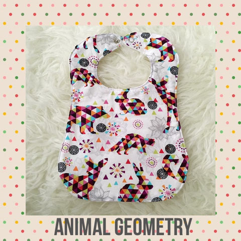 Handmade Bib - Animal Geometry