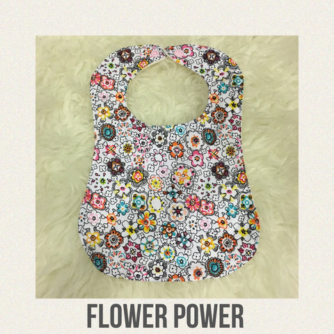 Handmade Bib - Flower Power