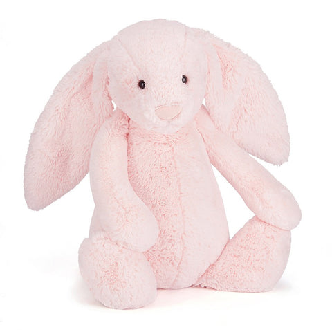 Soft Toy - Medium Pink Furry Bunny