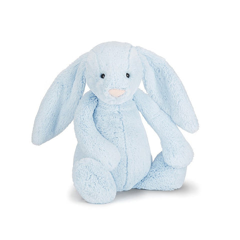 Soft Toy - Small Blue Furry Bunny