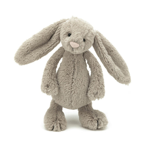 Soft Toy - Small Brown Furry Bunny