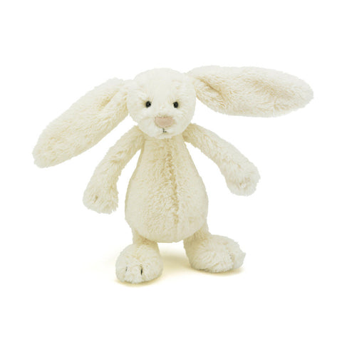 Soft Toy - Small White Furry Bunny