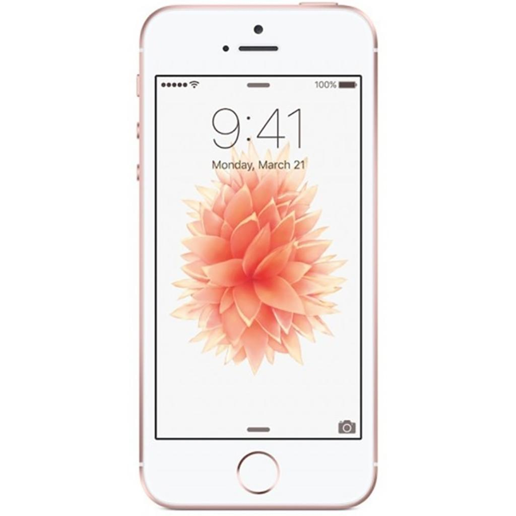 iPhone SE | SIM-Free Smartphone | Rose Gold 64 GB (Renewed)