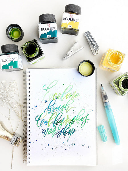 joy chong brush calligraphy ecoline