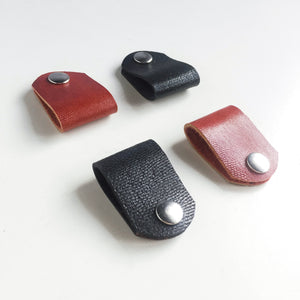 Personalised Leather Cable Holder