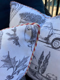 Pair of Vintage Christmas Memories Pillow Covers