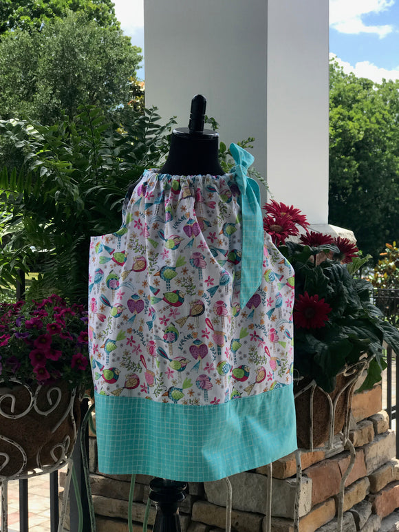 RoseThreads infant toddler pillowcase dress designer fabrics baby bloomers pantaloons diaper cover handmade one of a kind original vintage inspired cotton ready to ship boutique