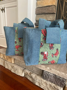 Denim Diaper Bag
