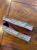 Pink and Green Plaid Headband