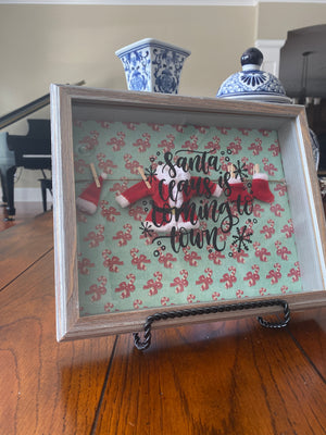 Santa Claus is Coming to Town Shadowbox