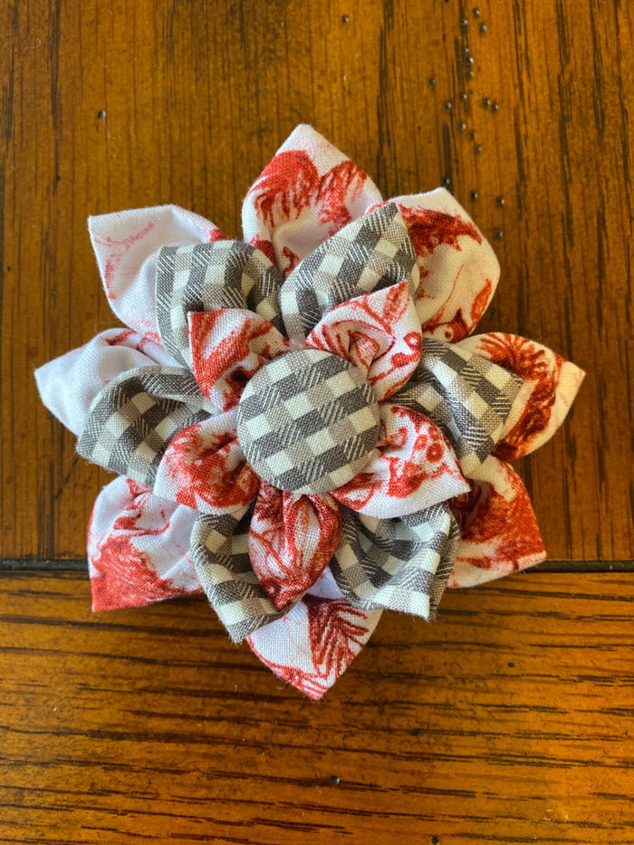 Emma's Red Toile hairbow