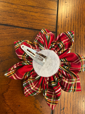 Emma's Red Plaid Christmas Bow