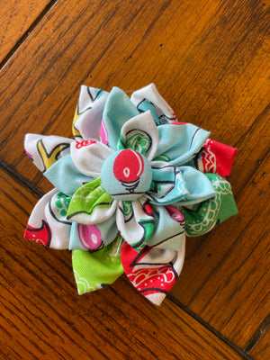 Bright Christmas Trees Hairbow