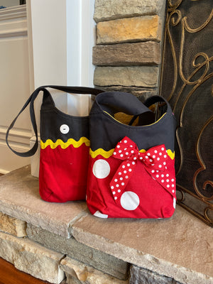 Small Mickey and Minnie Inspired Crossbody bag