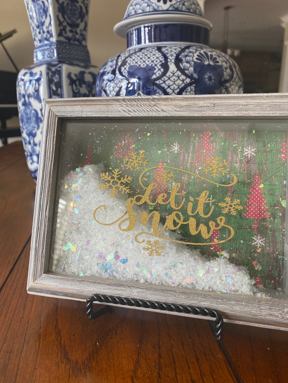 """Let it Snow"" Mini Shadowbox"