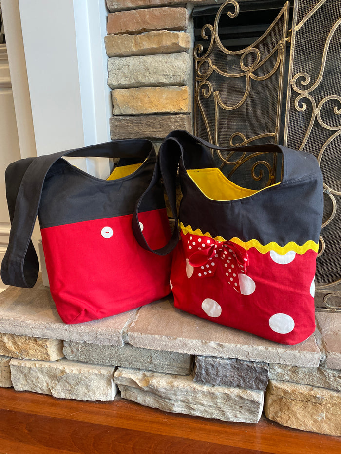 Mickey and Minnie Inspired Crossbody bag
