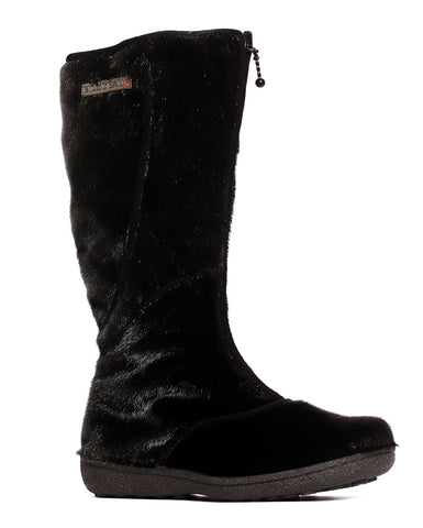 SEAL BOOT BLACK URBAN LONG BOOT - SHEEP WOOL LINING