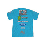 2016 Vaughn Gittin Jr. Official Turquoise Team Shirt - Vaughn Gittin Jr. Official Gear Store - 2