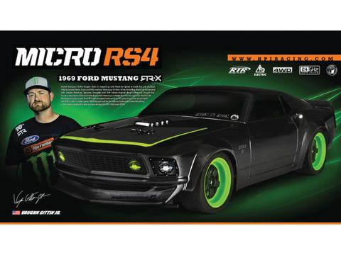 Vaughn Gittin Jr Signature 1969 Ford Mustang RTR-X Micro RS4 Kit - Vaughn Gittin Jr. Official Gear Store - 1