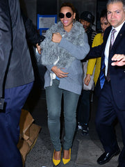Beyonce Neon Yellow Shoes