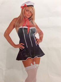 NL803 Sexy 3Piece Sailor Fantasy Costume-Costume-Miss Hollywood-Medium-As Shown-Miss Hollywood Sexy Shoes