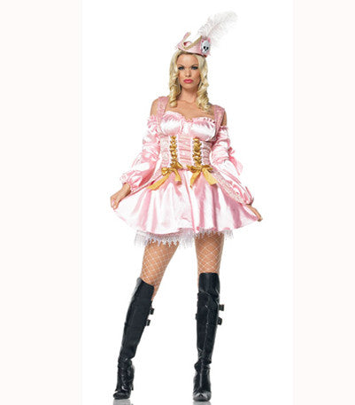 LA83374 Captain's Treasure Wench Fancy Dress Costume - Miss Hollywood