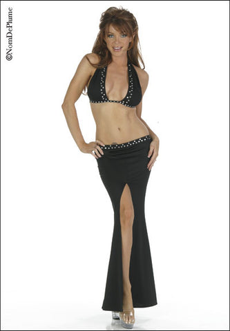 N3281 Sexy Nom De Plume Pole Dancing Long Skirt Top Set - Miss Hollywood