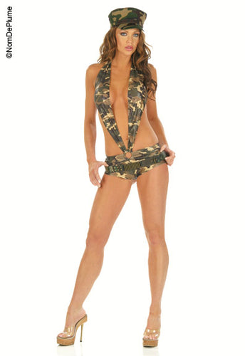 Sexy N3825 Sexy Army Fancy Dress Costume  Nom De Plume