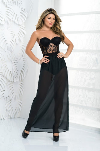 ES4481 Sexy Two Piece Long Gown Dress
