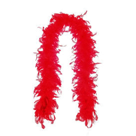 SM30866 Sexy Red Feather Boa Halloween - Miss Hollywood - 1