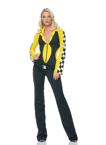 LA83325 Race Crew Fancy Dress Costume-Costume-Leg Avenue-XS-Miss Hollywood Sexy Shoes