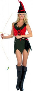 ML70075 Music Legs Costume Sexy Robin Hood Fancy Dress Costume - Miss Hollywood - 1