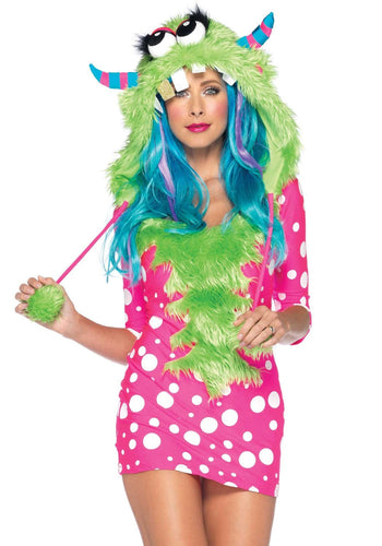 LA83933 Sexy Leg Avenue Melody Monster Fancy Dress Costume-Costume-Leg Avenue-XS-Miss Hollywood Sexy Shoes