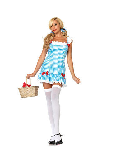 LA83654 Darling Dorothy Fancy Dress Costume - Miss Hollywood