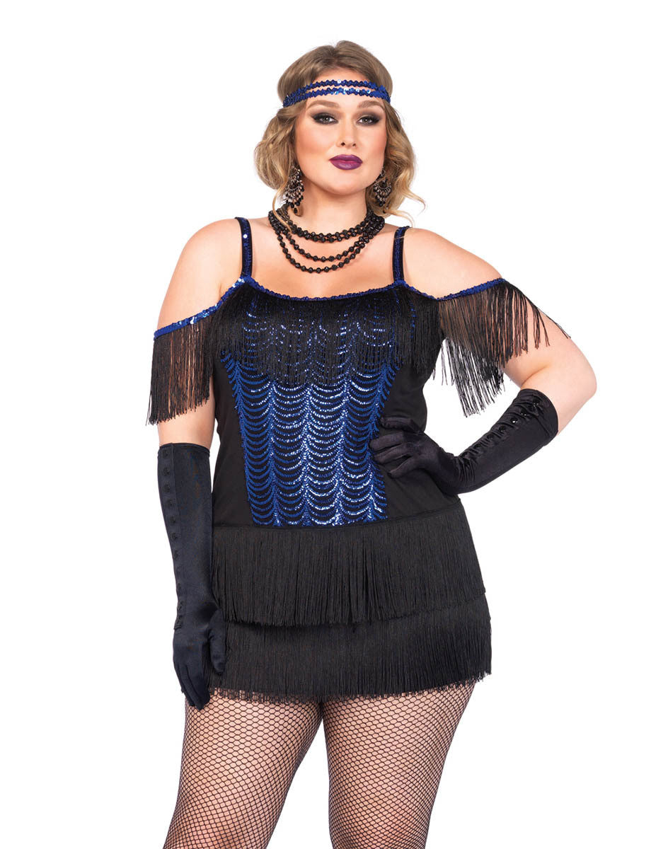 LA85369X Sexy Gatsby Flapper Fancy Dress Costume - Miss Hollywood